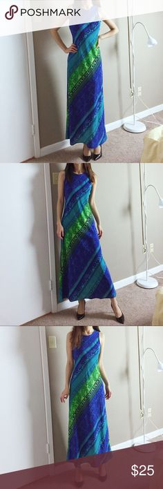 """Vintage 80s' maxi dress by My Michelle Vintage 80s' maxi dress by My Michelle. Size: 3/4. Made in USA. Length: 50"""". Waist: 26"""" to 27.5"""". In excellent condition. Vintage Dresses Maxi"""
