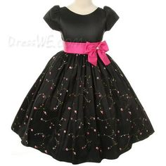 Dresswe.com SUPPLIES Pretty A-line Round-neck Knee-length Bowknots Applliques  Flower Girl Dress 2013 Flower Girl Dresses