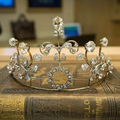 Closer view of A Victorian diamond tiara Inside the Stephen Silver Watch Boutique at the Rosewood Sand Hill Hotel in Menlo Park, CA.