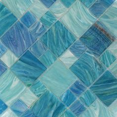 Give your living space a heavenly look and feel by installing this affordable Ivy Hill Tile Aqua Blue Sky French Pattern Glass Mosaic Tile. Splashback Tiles, Blue Backsplash, Kitchen Backsplash, Interior Design Living Room, Living Room Designs, Interior Paint, Beach Cottage Kitchens, Coastal Cottage, French Pattern