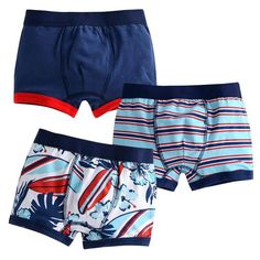 Vaenait Baby Toddler Kids Boys Boxer Brief 3-Pack Underwear Set Tahitree XL