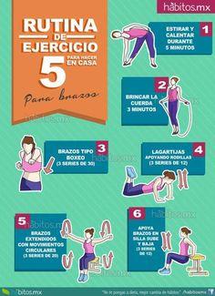 Rutina de ejercicio (para hacer en casa)para brazos