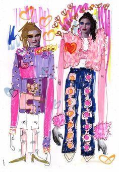 Fashion Drawing Ideas Sketchbooks Ideas For 2019 Fashion Design Sketchbook, Fashion Sketches, Fashion Illustrations, Fashion Collage, Fashion Art, Mode Costume, Magazine Mode, Photocollage, Fashion Figures