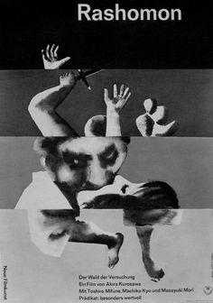 "feufillet: "" Hans Hillmann's poster for Rashomon (Akira Kurosawa, 1950) """