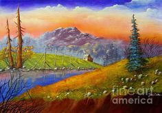 Thursday is an original landscape painted in acrylic by artist Tami Rae Dalton