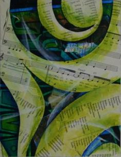 music abstract painted design