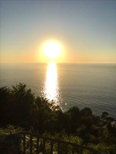 San Sebastián. Sun is setting at 9:10 in this pic. Beautiful.
