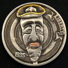 The Engraver's Cafe - The World's Largest Hand Engraving Community - Latest project Hobo Nickel, Coin Art, Metal Clay Jewelry, Hand Engraving, Metal Art, Wolf, Coins, Carving, Buffalo