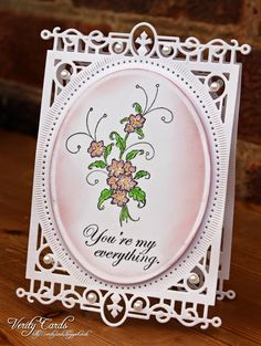 Verity Cards: You are my Everything Hand Made Greeting Cards, Making Greeting Cards, Heartfelt Creations Cards, Card Creator, Spellbinders Cards, Beautiful Handmade Cards, Paper Cards, Creative Cards, Scrapbook Cards
