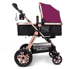 Pram Newborn Carriage Infant Travel Car Foldable Pram Baby Stroller Pushchair Purple ** More info could be found at the image url. Umbrella Stroller, Pram Stroller, Best Lightweight Stroller, Best Baby Strollers, Cheap Strollers, Jogging Stroller, Baby Carriage, Traveling With Baby, Diy Baby