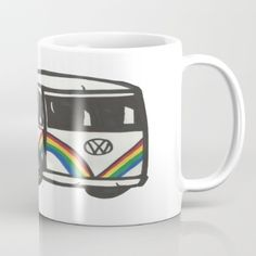 Mug featuring VW Bus by Ririmaho