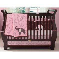 I can't decide between this one and a purple themed elephant one!  Help! Amazon.com: Carter's Elephant 4 Piece Crib Bedding Set, Pink: Baby