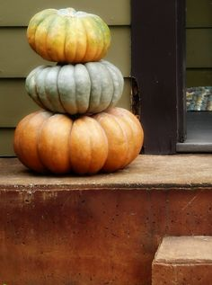 I love these heirloom pumpkins...they also last a very long time in dry storage