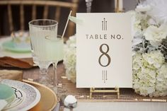 Art Deco Table Number Be True Designs Julie Roberts Photography 550x366 Wedding Stationery Inspiration: Art Deco