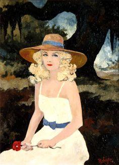 Jolie Blonde by George Rodrigue