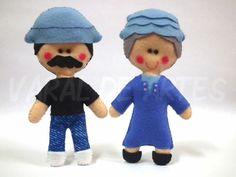 Felt Diy, Felt Crafts, Diy Crafts, Homemade Crafts, Felt Dolls, Stuffed Toys Patterns, Softies, Puppets, Diy Projects