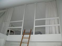 ... zolder on Pinterest  Mezzanine, Wooden sliding doors and Loft