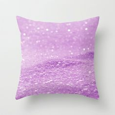 Glitter Pink Throw Pillow by Alice Gosling - $20.00