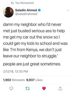 Faith In Humanity Restored - 13 Pics Sweet Stories, Cute Stories, Awesome Stories, Happy Stories, Feel Good Stories, Make Me Happy, Make Me Smile, The Neighbor, Human Kindness