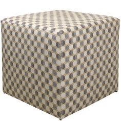 Enjoy an after-dinner cocktail while you rest your feet on this geometric ottoman, or serve a tray of cocktails on top at your next neighborhood soiree....