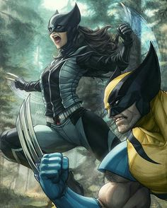 《Wolverine and X-23 from X-Force》