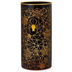 """Spiderweb Tall Glass Candle Holder, 10.5"""","""