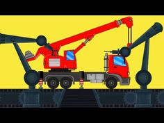 Kids Let's visit to the toy factory to see building of a huge crane. #learning #kidslearning #kids #educational #vehicles #crane #parenting