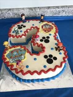 Paw Patrol Birthday Cake- Marshal
