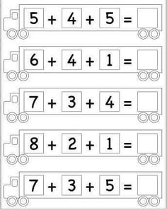 Letter Worksheets For Preschool, First Grade Math Worksheets, Printable Activities For Kids, Free Printable Worksheets, Preschool Math, Kindergarten Worksheets, Maths, Math For Kids, Online Exercise