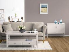 Das neue KOLORAT-Zimmer in einem behaglich warmen TAUPE-Ton. Wie gefällts euch? #KOLORAT #Wandfarbe #interior #Wandgestaltung #Wohnzimmeer #Violett #Taupe