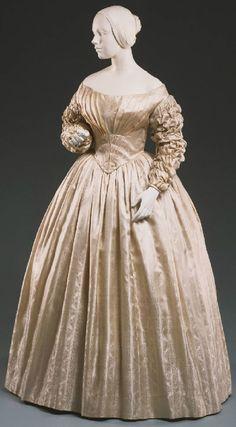 Wedding dress, circa 1841