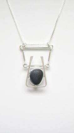Sea Glass Jewelry - Sterling Rare Victorian English Sea Glass Necklace by SignetureLine on Etsy