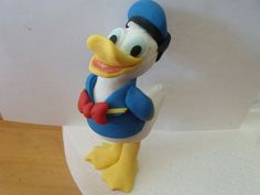 Donald duck fondant cake topper by Cupncake1