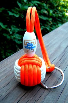 Tennessee Lady Vols Paracord Monkey Fist Keychain Handmade. $14.00, via Etsy.