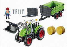 Grand tracteur avec remorque - PLAYMOBIL® France
