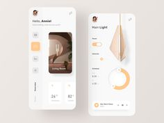 Smart Home App designed by Pham Huy for Fireart Studio. Connect with them on Dribbble; the global community for designers and creative professionals. Web Design, Layout Design, App Ui Design, User Interface Design, Design Trends, Dashboard Design, Web Layout, Graphic Design, Logo Design