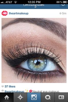 LOVE these natural looking eyelashes... :)    Neutral Eye #MakeUp – Beauty Works London