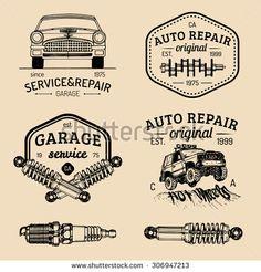 Garage Repair, Car Repair, Garage Logo, Mechanic Shop, Go Car, Sign Writing, Retro Logos, Hand Sketch, Auto Service