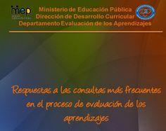 Respuestas a las consultas más frecuentes en el proceso de educación de los aprendizajes 2011
