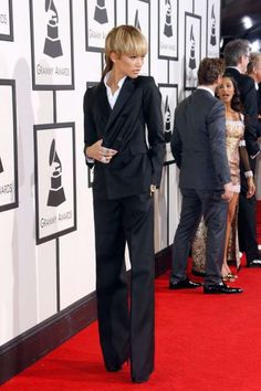 Zendaya:   Zendaya wore a Dsquared2 suit for the 58th Grammy Awards.