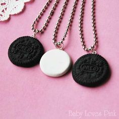 Cookie Best Friends Necklace - Set of 3 by Baby Loves Pink. $35.00. A set of 3 cookies best friend friendship necklace! One cookie twists into 3 pieces! This cute cookie looks 100% real! Great gift for your cookie loving best friends :)
