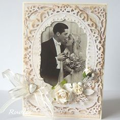 """wedding card--""""Print It"""" has the old  pictures & I am doing this for an anniversary. On her site go to """"My Top Cards"""" to find this one. Translates to English but I'm going to improvise from the picture"""