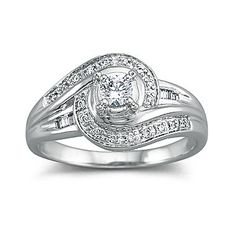 Bridal Bouquet Diamond Blue Topaz Wedding Ring Set jcpenney
