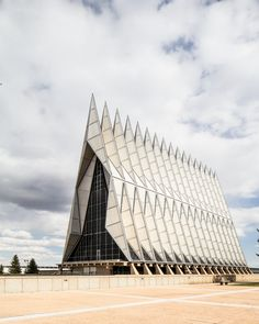 US Air Force Academy Cadet Chapel -by SOM - photo by Scott Norsworthy       11th June, 2013
