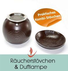 Kombi-Räucherstövchen braun unser preiswertes Highlight mit doppelter Funktion 2 teiliges Stövchen aus Keramik Dieses Stövchen kann als Duftlampe und Räucherstövchen genutzt werden. Die Schale abnehmen und durch das Räuchersieb (Edelstahlsieb 7cm) ersetzen und schon können Sie unsere angenehm duftenden Kräuter und Räuchermischungen verräuchern...……... Decorative Bowls, Home Decor, Incense, Meaningful Gifts, Frying Pans, Losing Weight, Get Tan, Decoration Home, Room Decor