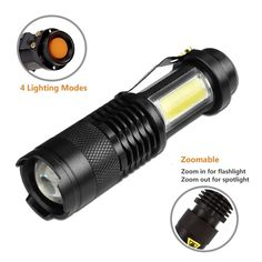 Brilliant Led Flashlight 5200 Lumens Tactical Flashlight Lampe Torche Xm-l T6 Led Torch Zoomable For 3xaaa Or 1x18650 Camping Hiking Led Lighting