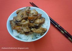 Chicken with Chinese Mushrooms Chinese Mushrooms, Risotto, Stuffed Mushrooms, Bee, Chicken, Healthy, Ethnic Recipes, Kitchen, Easy