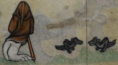Detail from medieval manuscript, British Library Stowe MS 17 'The Maastricht Hours', f61r