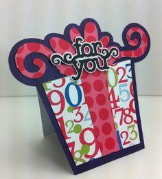 Cute Card - American Alphabet & Cricut Essentials