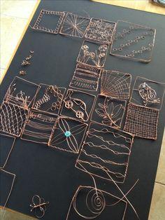 Wire quilt in progress